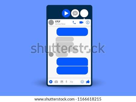 vector design of template user interface