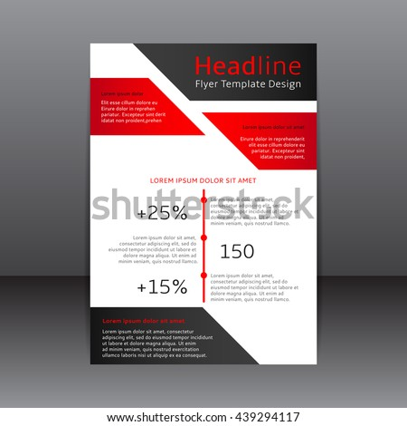 Vector Design Of The Red Black And White Flyer And Cover Vector