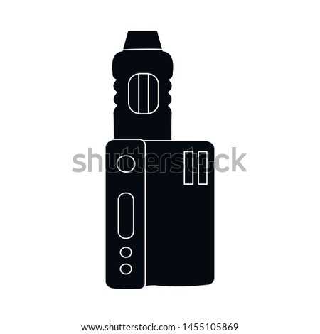 Vector design of vape and cigarette sign. Set of vape and electronic stock vector illustration.