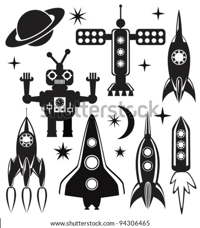 vector design set of stylized