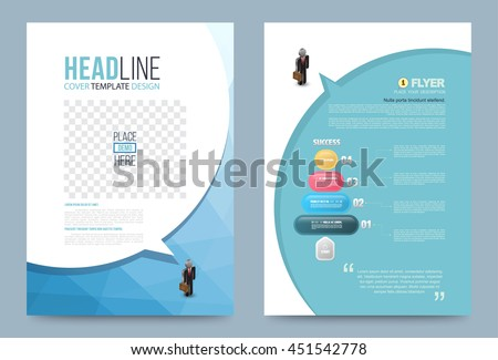 Vector design speech bubble for Cover Report Brochure Flyer Poster leaflet in A4 size front and back.