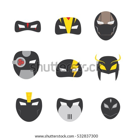 vector design superhero mask in
