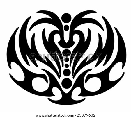 Vector design tribal tattoo