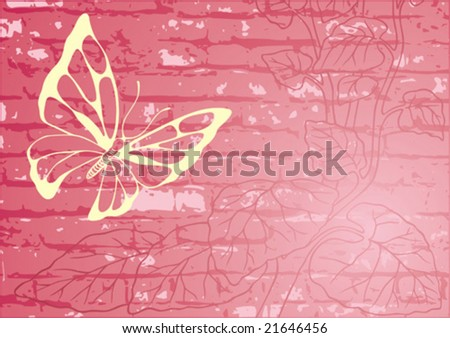 Vector design wall with vegetable element. Background.