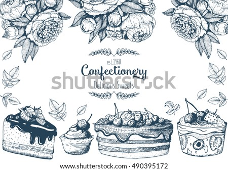 Hand Drawn Bakery And Pastry Vectors Download Free Vector Art