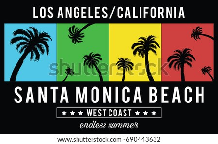 vector design with palms and
