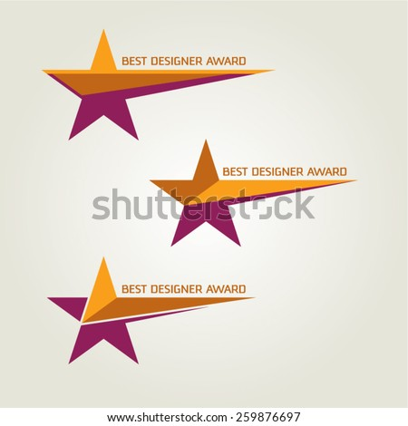 vector designer award star