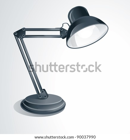 vector desk lamp - on white background
