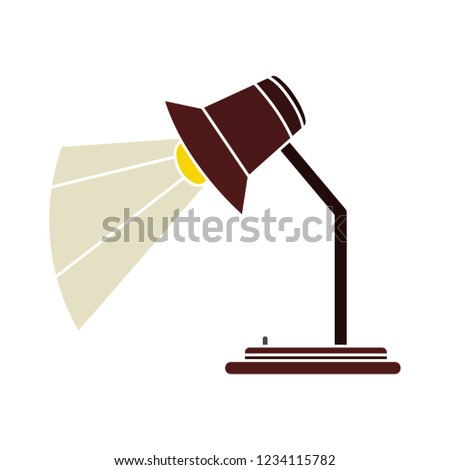 vector desk spotlight isolated icon - light bulb illustration vector - office light sign symbol