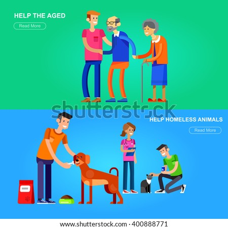 People helping the sick clipart