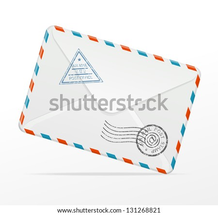 Vector detailed envelope