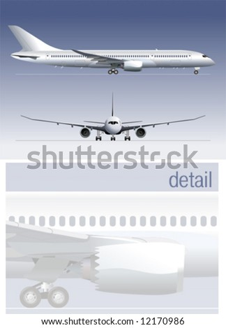 Vector detailed illustration airliner. More vector aircrafts see in my portfolio.