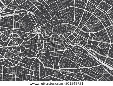 Vector detailed map Berlin