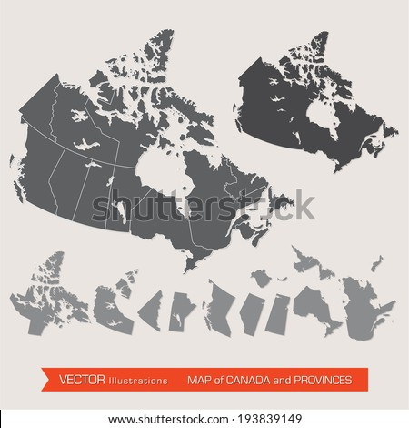vector detailed map of canada