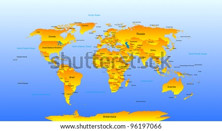 Vector detailed map of the world