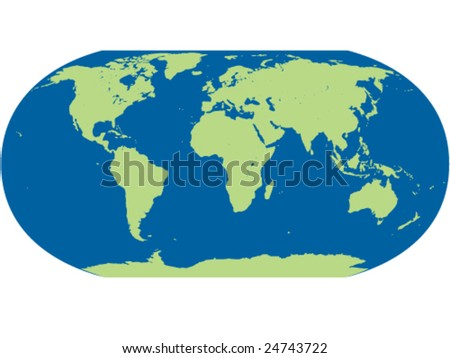 vector detailed map of world