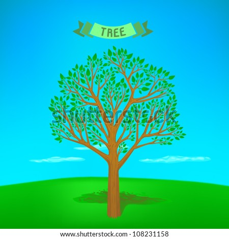 vector detailed tree illustration 3d