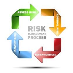 Vector diagram of risk management