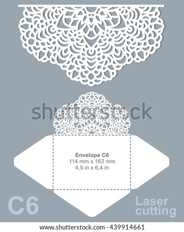 vector images illustrations and cliparts vector die cut envelope