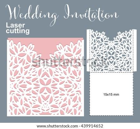 vector die laser cut envelope template invitation envelope wedding