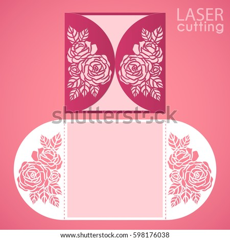 Wedding Card Envelope Template | Vector Images Illustrations And Cliparts Vector Die Laser Cut