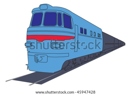 vector diesel locomotive or