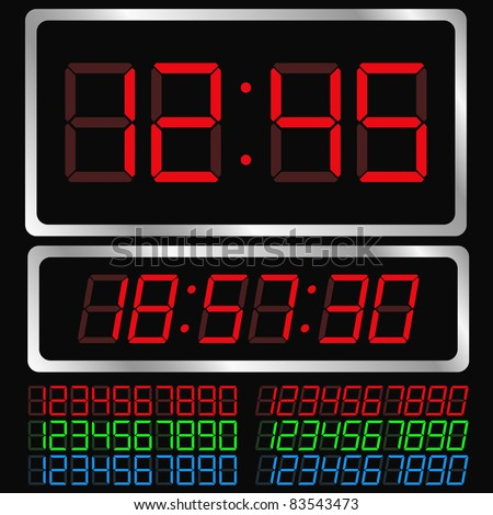 Vector Digital Clock
