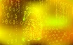 Vector  Digital Data Web Security Background