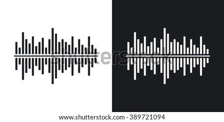 vector digital equalizer icon
