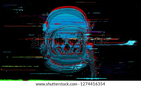 vector digital glitch astronaut
