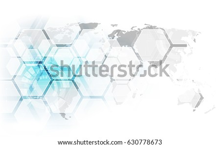 Vector digital global technology concept, abstract background