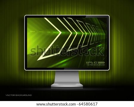 Vector digital LCD monitor