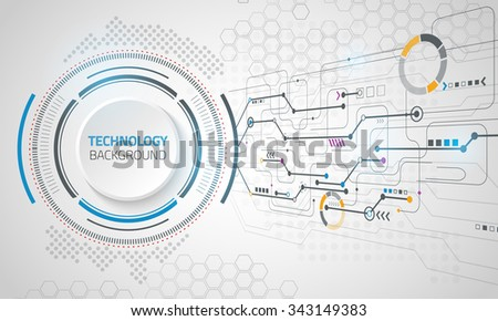 Vector digital technology concept. Abstract background. Vector illustration.