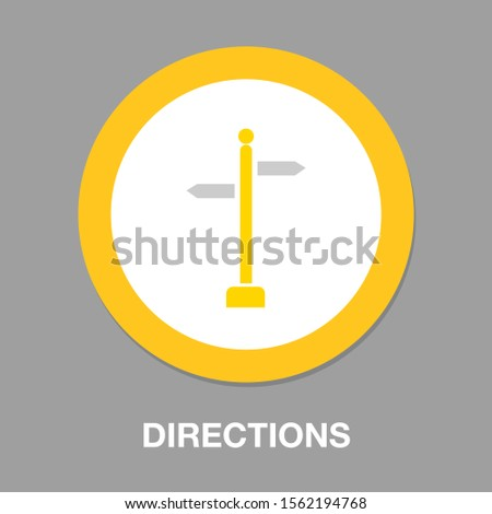 vector directions sign - street road directional symbol isolated, information icon