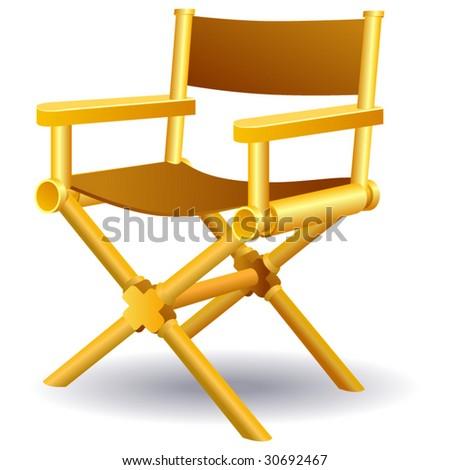 Vector directors chair.
