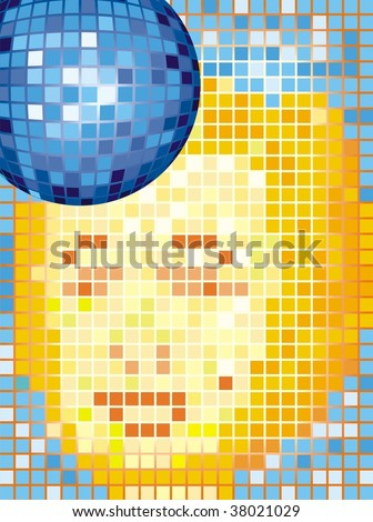 vector disco ball  cmyk color
