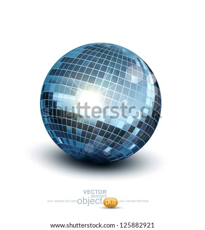 Vector disco ball on a white background