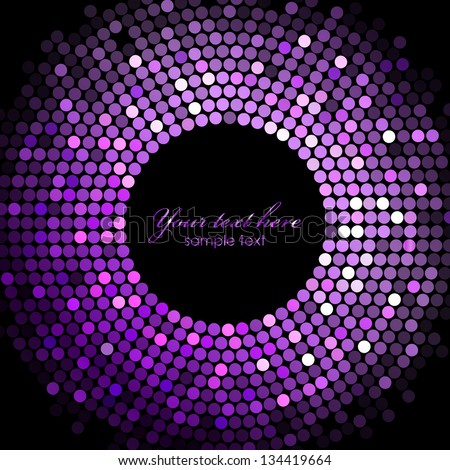 Vector disco lights purple frame