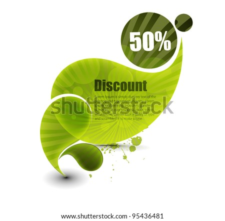 Vector discount banner, transparent shadow easy replace background.