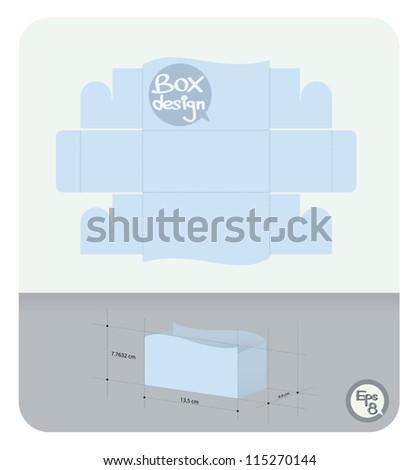 Vector Display paper box die cut (actual size)