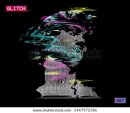 vector distorted cmyk color