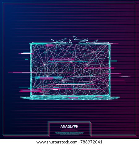 vector distorted glitch concept