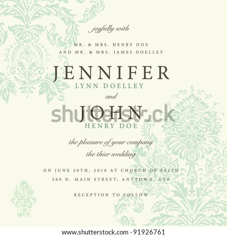 Vector Distressed Victorian Background. Easy to edit. Perfect for invitations or announcements.