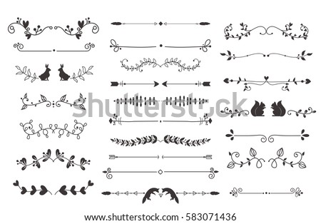 vector dividers calligraphic