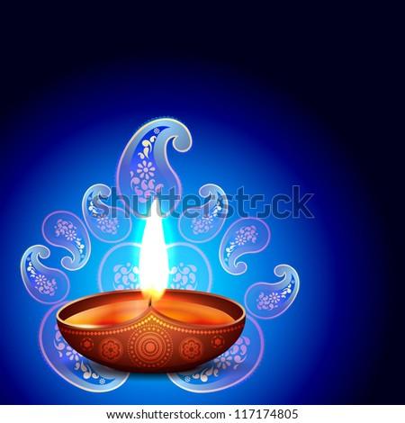 vector diwali background design illustration