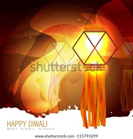 vector diwali glowing lamp background