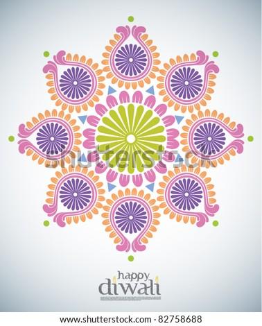 Vector Diwali Kolam Patterns