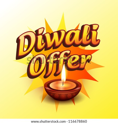 vector diwali offer design illustration - stock vector