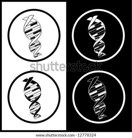 Dna Vector Black Vector Dna Icons Black And