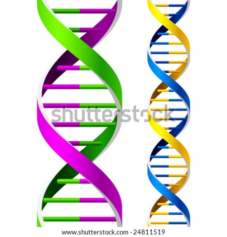 Vector DNA Strands. Seamless. Duplicate for lengthening. - stock vector
